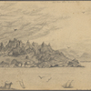 Hawthorne, Julian[?], Original pencil sketch of NH.