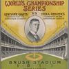 Offical Score Card. World's Championship Series. New York Giants vs Philadelphia Athletics
