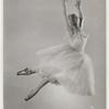 Full-length studio photo of Nana Gollner in romantic length tutu in a big jump
