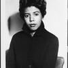 Portrait of dramatist Lorraine Hansberry, circa 1950s.