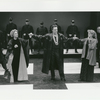 Christopher Walken, Irene Worth, and Ashley Crow in the stage production Coriolanus.