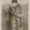 Portrait of musician and composer Eubie Blake in fur coat and gloves, circa 1928.
