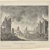Campo dei Romani incendiato nel ballo Arminio: Litografia Ricordi. Sanquirico inv