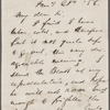 Brown, G. A., ALS to. Jan. 21, 1856