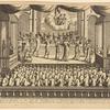 Representation du théatre ou l'on joue les comédies pour le divertissement du Roy de Tunquin et de son cour
