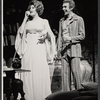 Arlene Dahl and unidentified actor in the stage production Applause