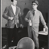 Robert Reed and director Nigel Patrick in rehearsal for the stage production Avanti!