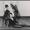 Unidentified dancers in rehearsal for the stage production Baker Street