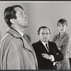 Fritz Weaver, Martin Gabel, and Inga Svenson in rehearsal for the stage production Baker Street