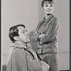 Fritz Weaver and Inga Svenson in rehearsal for the stage production Baker Street