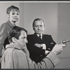 Inga Svenson, Fritz Weaver, and Martin Gabel in rehearsal for the stage production Baker Street