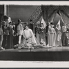 Robert Goulet and ensemble in the stage production Camelot