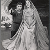 William Squire and Julie Andrews in the stage production Camelot
