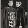 William Squire and John Cullum in the stage production Camelot