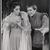 Tani Seitz and John Cullum in the stage production Camelot