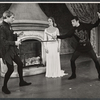 John Cullum, Julie Andrews and Robert Goulet in the stage production Camelot