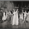 Janet Pavek and ensemble in the stage production Camelot