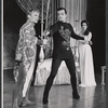 Robert Goulet, Janet Pavek and unidentified other in the stage production Camelot