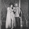 Tani Seitz and unidentified in the stage production Camelot
