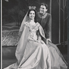 Janet Pavek and William Squire in the stage production Camelot