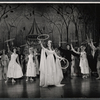Patricia Bredin and ensemble in the stage production Camelot