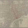 New National authentic map of Detroit and environs