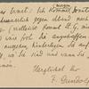 Stefan George letters to Ernst Morwitz, 1907