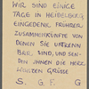 Stefan George letters to Ernst Morwitz, 1910