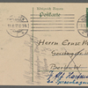 Stefan George letters to Ernst Morwitz, 1913