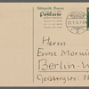 Stefan George letters to Ernst Morwitz, 1914