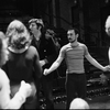 Michael Bennett and Marvin Hamlisch during rehearsals for A Chorus Line.