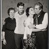 Marjorie Rhodes, Brian Murray, Alexandra Berlin, and Donald Wolfit in the stage production All in Good Time