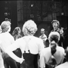 Marvin Hamlisch addressing cast during rehearsals of A Chorus Line.
