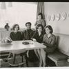 Composer Dean Dixon with his family: Marina, Nina (standing), wife Mary and Daniela
