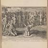 Un des rois de la Floride, consultant son magicien, avant que de marcher à l'ennemi ; The history of America, Page 392