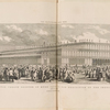 Exterior of the Crystal Palace erected in Hyde Park for the Exhibition of the Industry of All Nations. Opened on the 1st of May, 1851. South-East view.