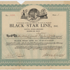 Stock certificate for one share (five dollars) of the Black Star Line, Inc. dated November 21, 1919.