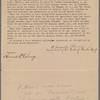Transfer to Edward Stratemeyer of uncompleted manuscript written by Horatio Alger, Jr.