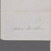Hawthorne, Elizabeth, ALS to, in person of Una to her grandmother. [late 1845].