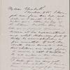 Hawthorne, Elizabeth M., ALS to. Aug. 16, 1866.