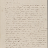 Hawthorne, Maria Louisa, ALS to. Oct. 27, [1844].