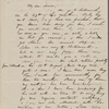 Hawthorne, Maria Louisa, ALS to, with postscript by Nathaniel Hawthorne. [July 15, 1845?].