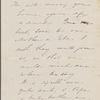 Hawthorne, Maria Louisa, ALS to. [1846-48].