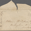 Miscellaneous manuscript material: letter scraps (Cuba journal); envelopes; death of a son