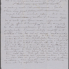 Copy in SAPH's hand of portion of a letter from Florence De Quincey to a friend, about Nathaniel Hawthorne. Unsigned, undated.