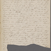 Journal. Holograph, unsigned (mutilated and incomplete). [Concord, MA], Dec. 1, 1843 - Jan. 5, [1844].
