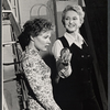 Celeste Holm and unidentified other in the stage production Butterflies are Free