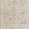 Hawthorne, Una, ALS to. Jan. 24, 1866.