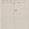 Hawthorne, Una, ALS to. Mar. 29, 1866.