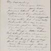 Hawthorne, Una, ALS to. Sep. 22, 1866.